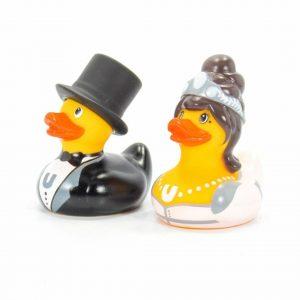 Canards mariés caoutchouc Figurine mariage original